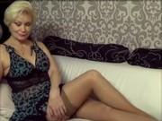 Fantastiska sexig blond mamma