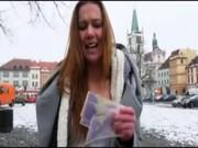 Superb amatör tjeckiska flicka Dominika betalade för hardcore jävla