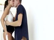 Model tonåring slampa älskar hennes erotiska tid